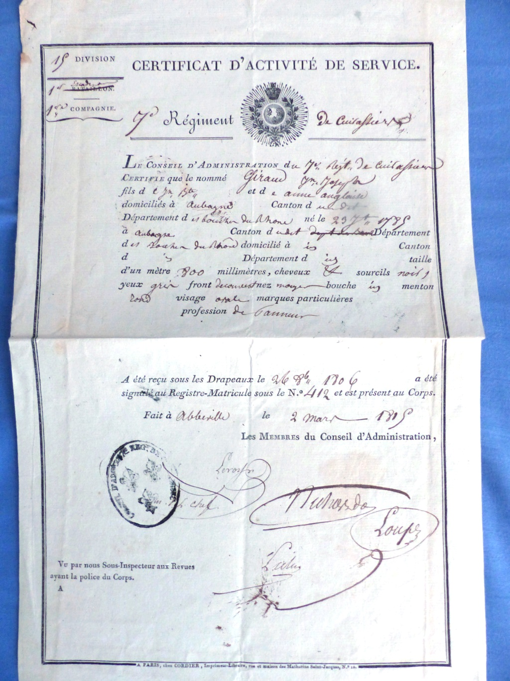 lots de documents datés de 1642 au second Empire Toto1410