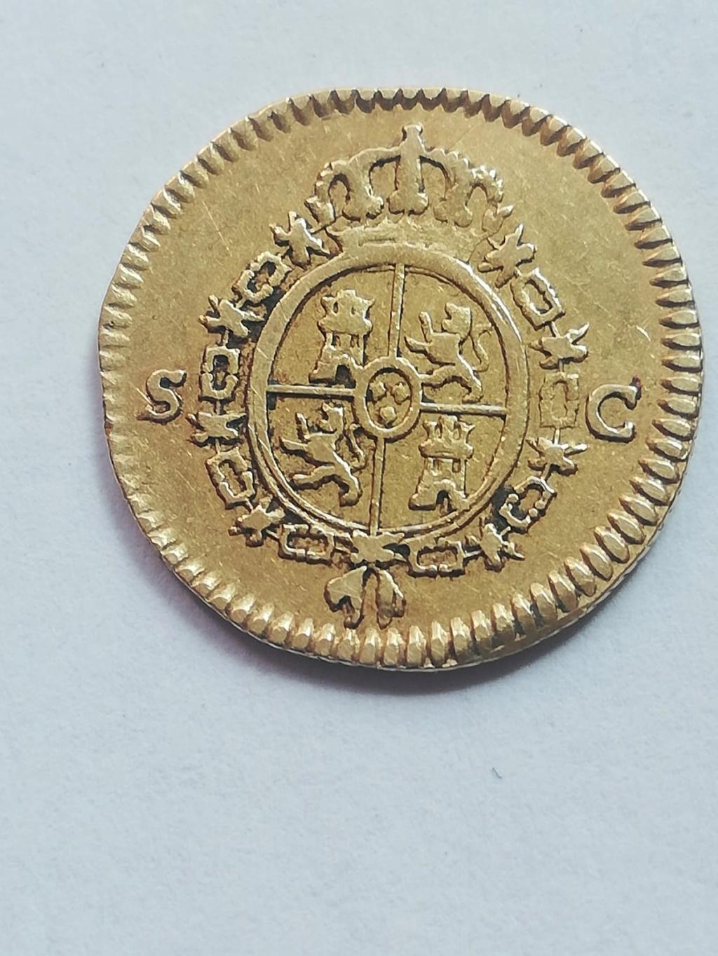 medio escudo de oro de Carlos III, de 1778, Sevilla Img-2011