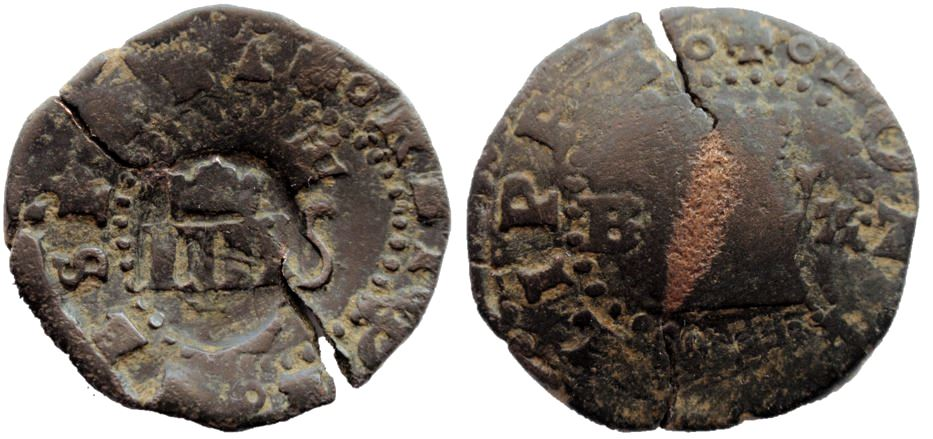 II maravedís de Felipe II (Burgos, 1556-1598)  9-10