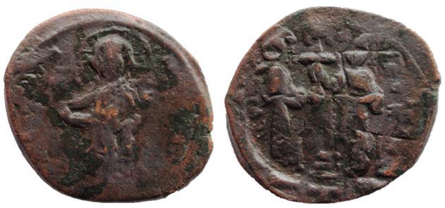 Follis anónimo de Constantino X y Eudocia  Consta10