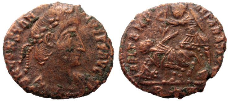 AE3 de Constancio II. FEL TEMP REPARATIO. Roma Consta11