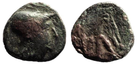 AE15 de de Antigonos II Gonatas. Atenea Grega_10