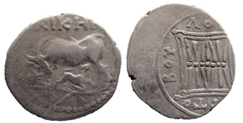 Illyria, Apollonia - Dracma de plata Illyri10