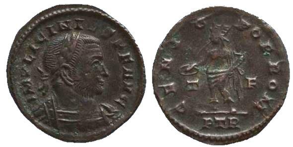 Nummus de Licinio I. GENIO POP ROM. Trier Licini10