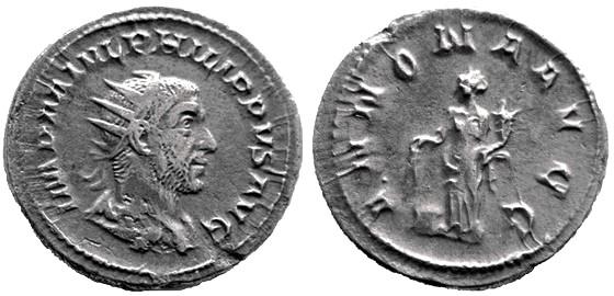 Antoniniano de Filipo I. ANNONA AVGG. Roma Philip10