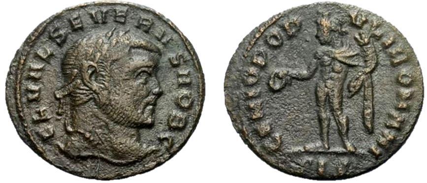 1/4 de nummus de Severo II. GENIO POPVLI ROMANI. Siscia Severo10