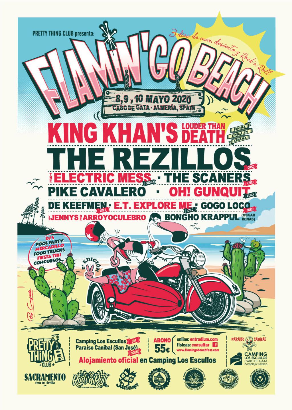 THE REZILLOS y KING KHAN LTD al Flamin'Go Beach! Fest 2020 / Cabo de Gata ¡CARTEL COMPLETO! Cartel10