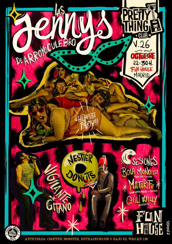 Las Jennys de Arroyoculebro + Vigilante Gitano + Nestter Donuts en Fun House Bar (Madrid) Las_je10