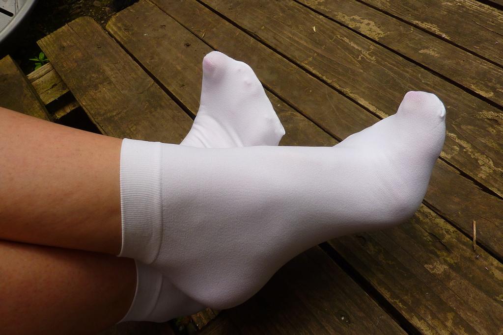 Mes socquettes Lycra blanc P1080413