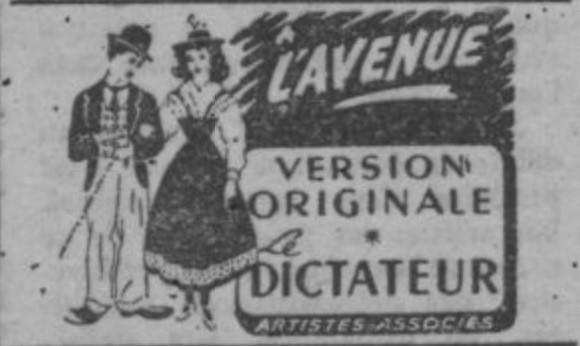 Le Dictateur (Charles Chaplin, 1940) Vost10