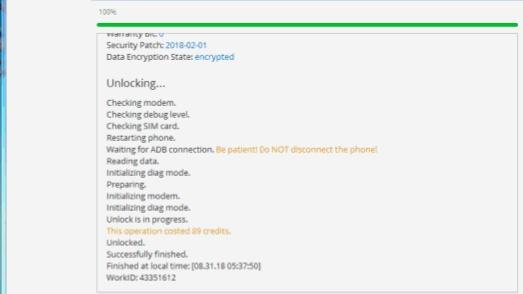 Aporte Unlock s9 Y s9+ con créditos de chimera 20180931