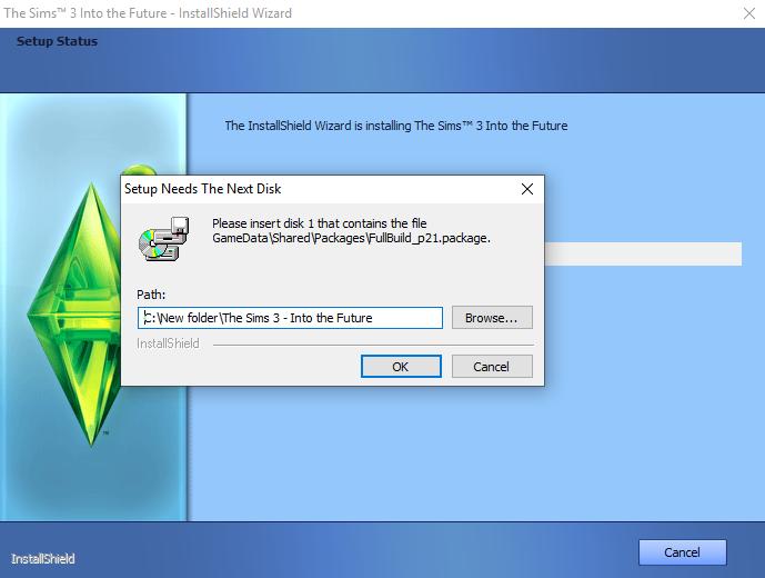 Setup needs the next disk Untitl10