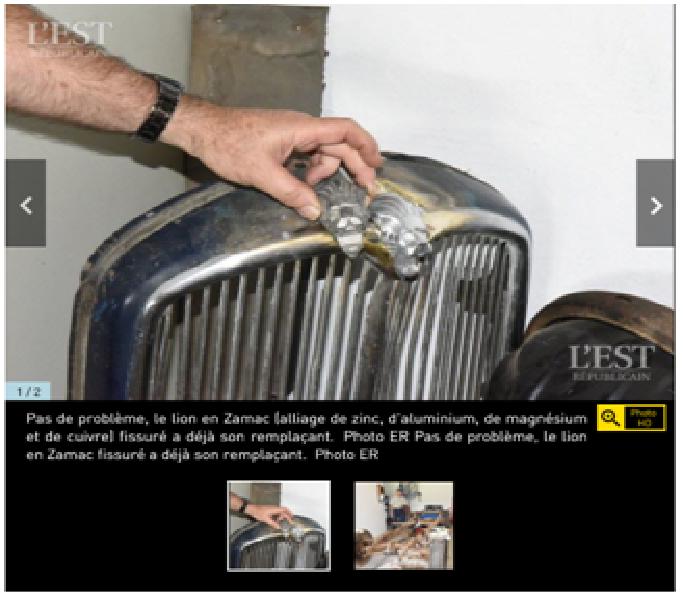 """votre serviteur valorise"""" les amis des Peugeot 01"""" sur L EST REPUBLICAIN  Est211"""