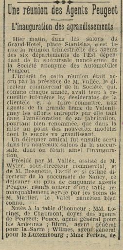 Cartes Postales Anciennes de garages PEUGEOT (Garages, Agences et Concessions) - Page 2 Lorine10