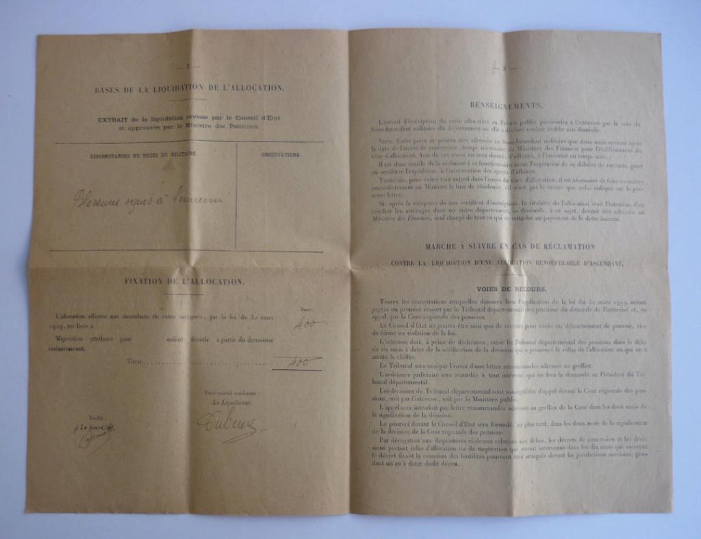Trouvailles du week-end (drapeaux libé, cartes, papiers WW1...) 1710