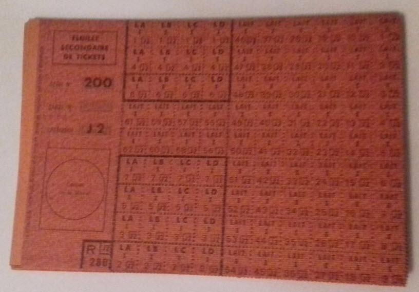 """Rationnement -  Feuilles """"suppléments"""" et """"feuilles secondaires de tickets"""" 69810"""