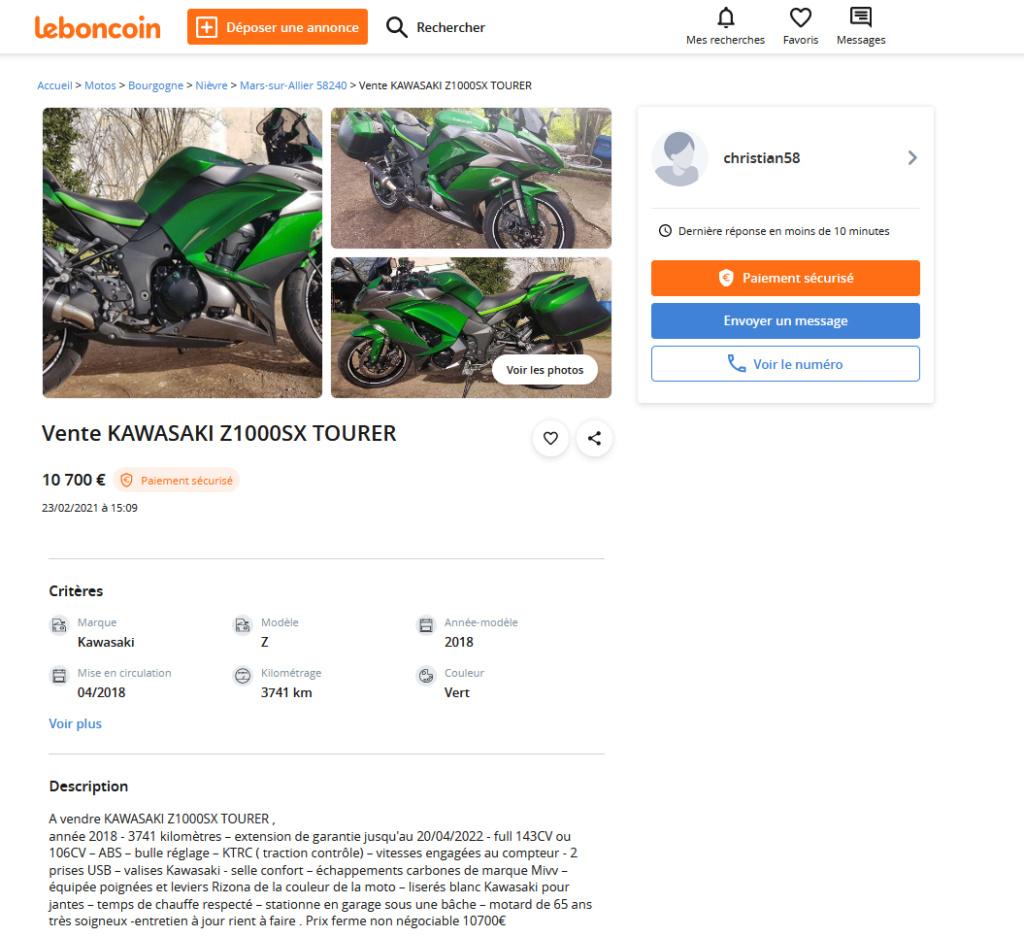 A vendre : KAWASAKI Z1000SX TOURER Kawasa10