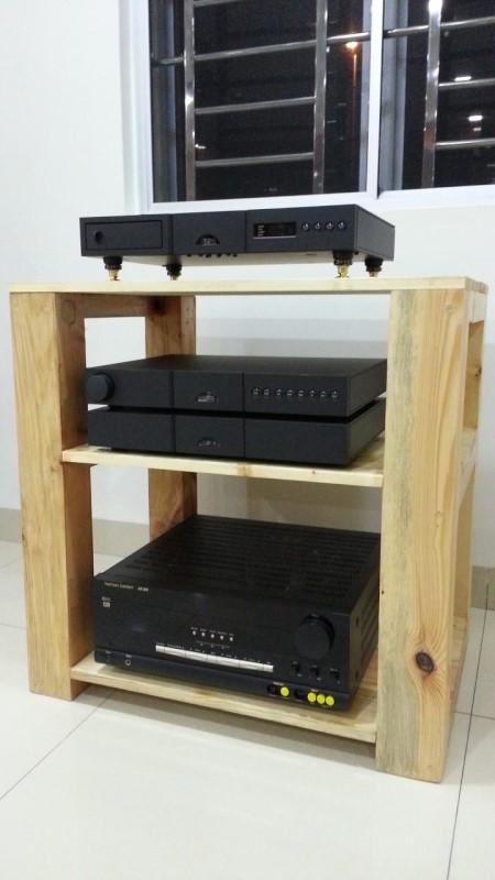 Hifi Wooden Rack - sold 11011