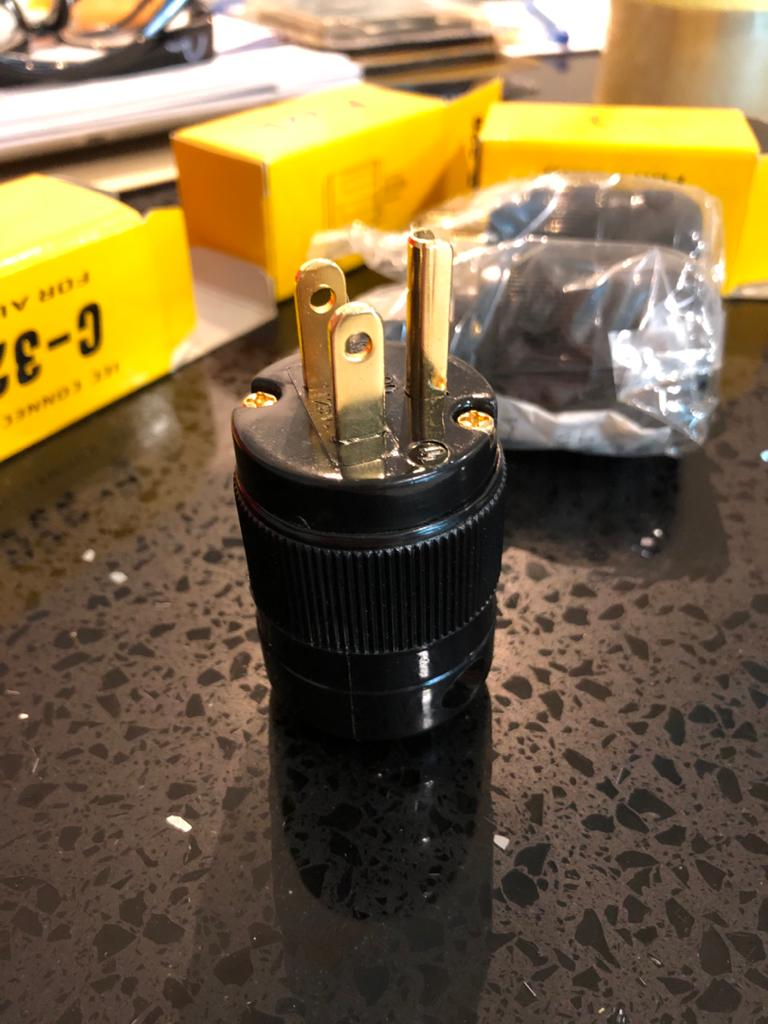 OEM US plug and IEC connector pair Img-2013