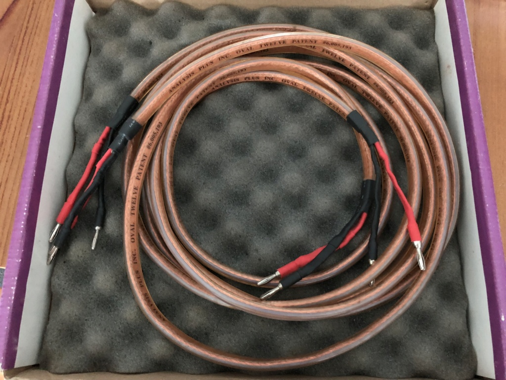 Analysis Plus - Oval 12 speaker cable Img_1525