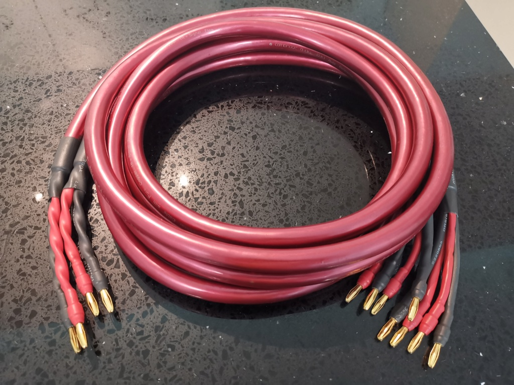 Cambridge Audio Ruby Reference Speaker cable - sold Img_2036