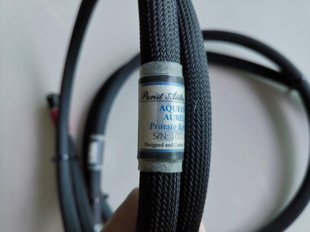 Purist Audio Design - Aqueous Aureus, Praesto Revision XLR Balanced Interconnect Img_2133