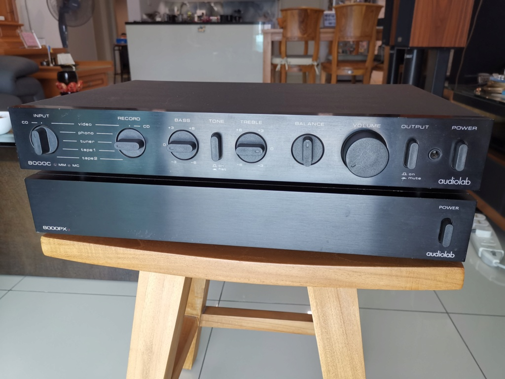 Audiolab 8000C and 8000PX Pre & Power amp Img_2165