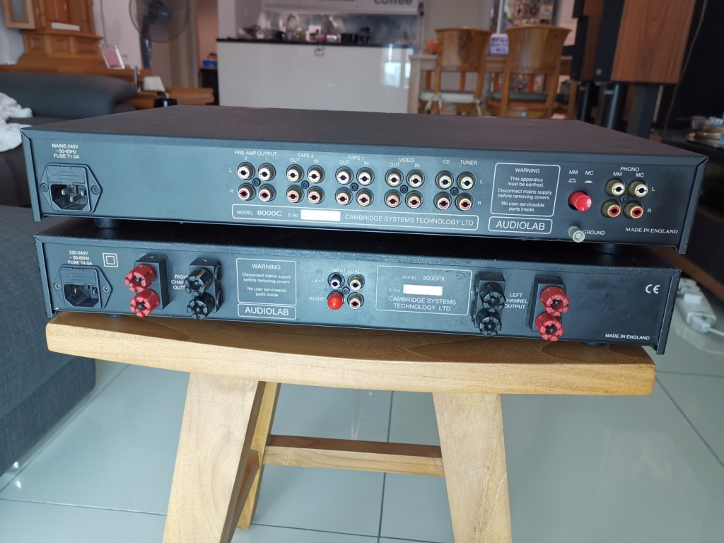 Audiolab 8000C and 8000PX Pre & Power amp Img_2166