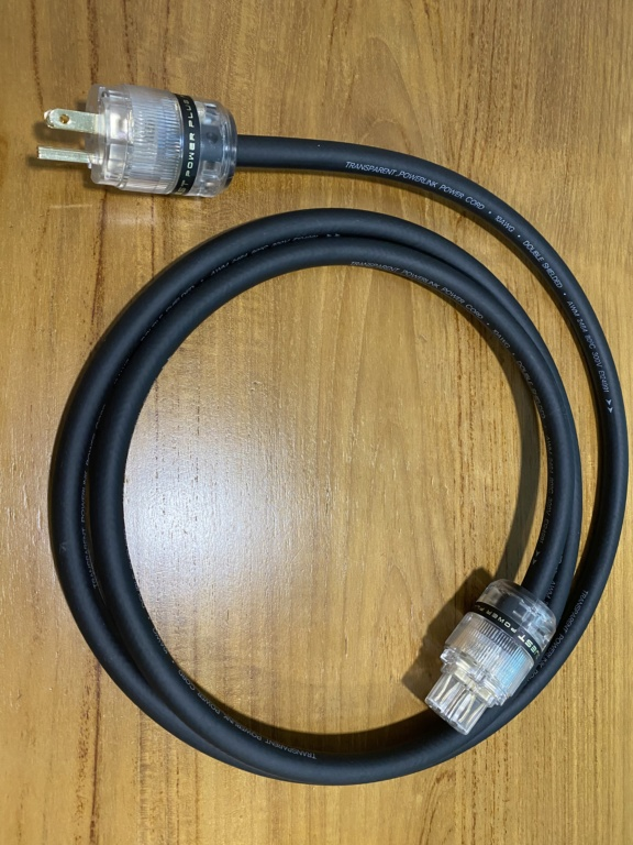 Transparent Audio Powerlink 10AWG power cord (sold) Img_6116