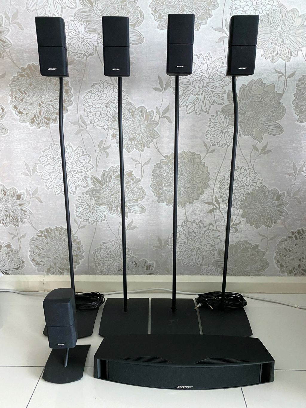 Bose Double Cube speakers with original stand Img_7312