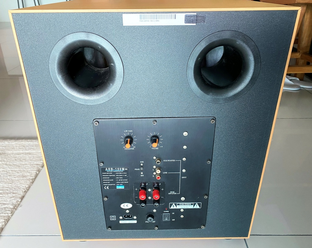 """Rogers 12"""" Active Subwoofer ASB-120M (sold) Img_8018"""