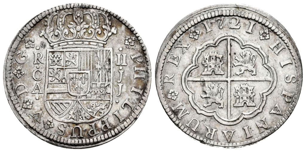 2 Reales Felipe V 1721. Cuenca Cuenca10