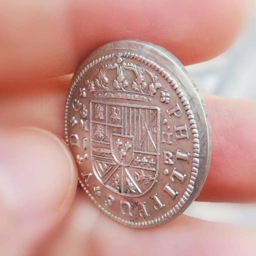 2 Reales Felipe V 1717. Madrid - Leones sin Corona Img_2023