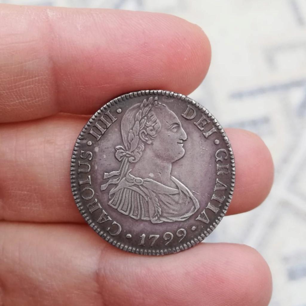 2 Reales 1799. Carlos IV.  México - Precioso tono  Img_2044