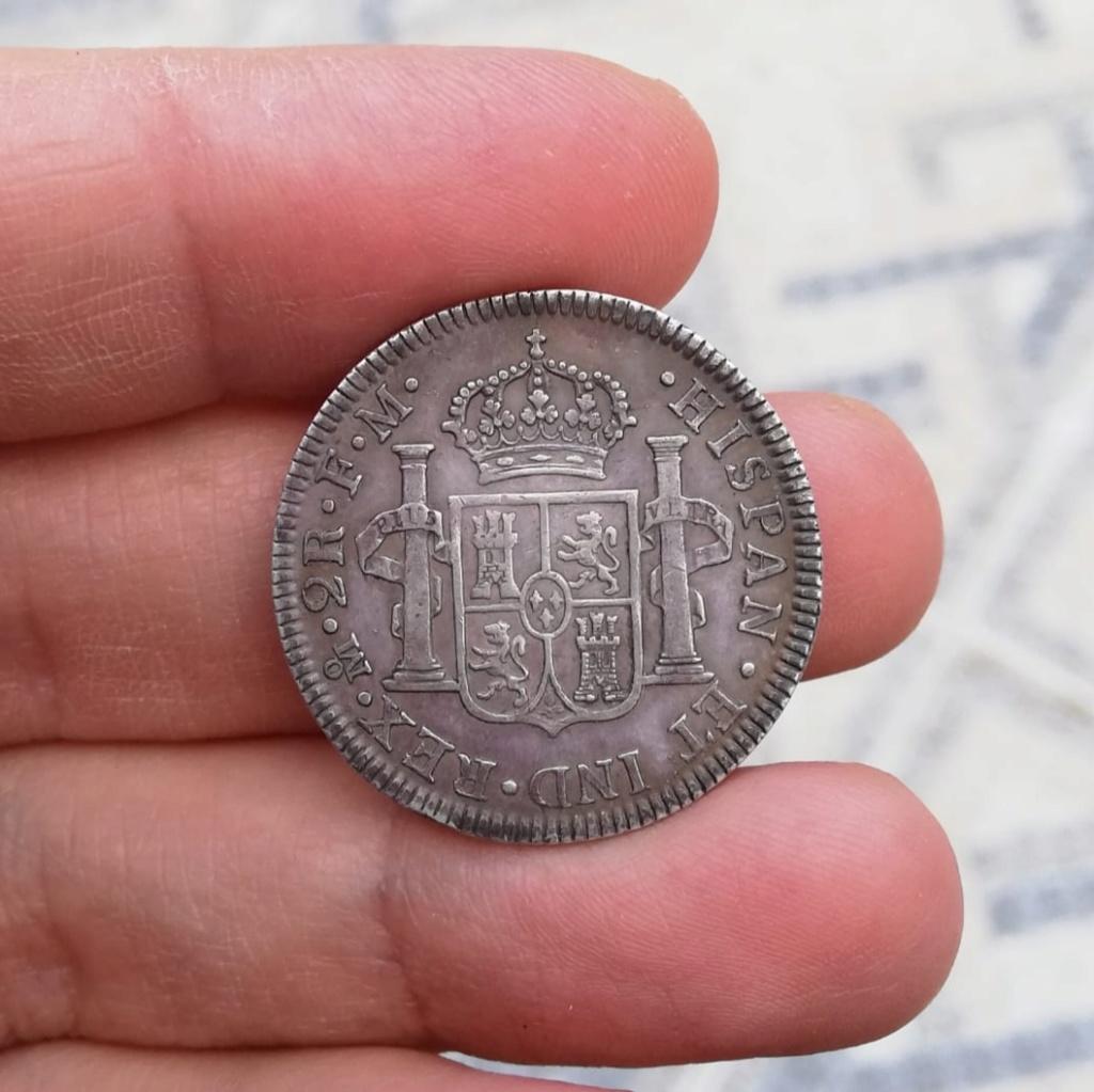 2 Reales 1799. Carlos IV.  México - Precioso tono  Img_2045