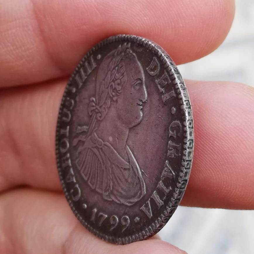 2 Reales 1799. Carlos IV.  México - Precioso tono  Img_2047