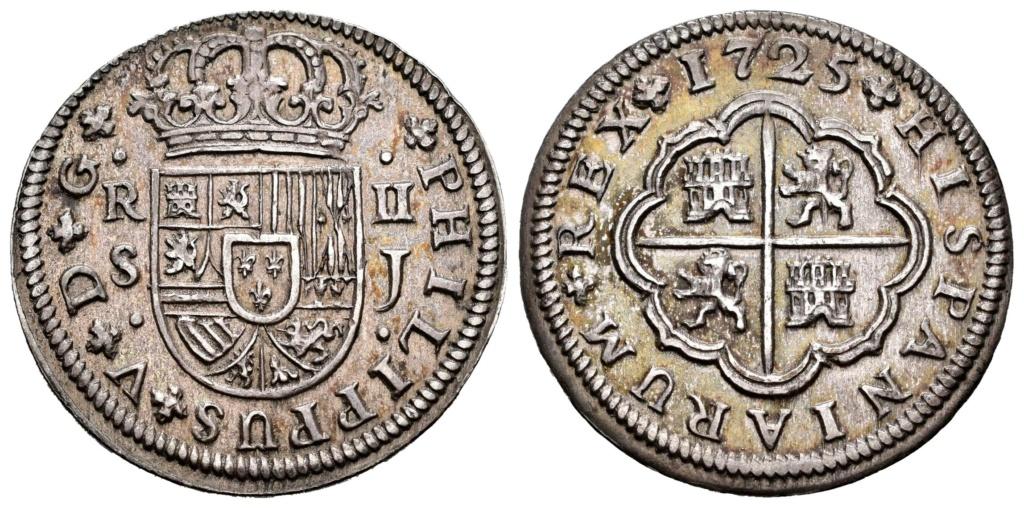 2 Reales Felipe V 1725. Sevilla Sevill10