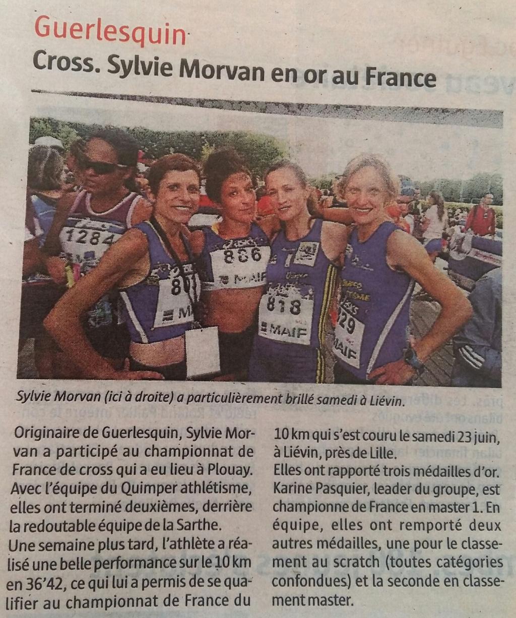 Athlétisme : Médaille d'or à une Guerlesquinaise Sylvie11