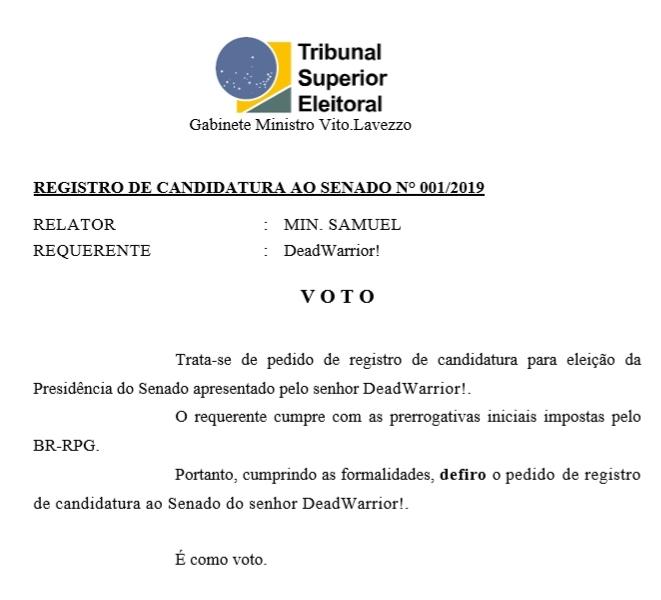 [REQ] Reg. Cand. Senado n° 01 20190319