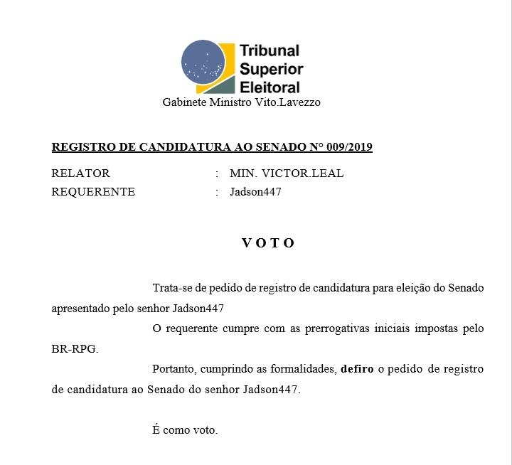 [REQ] Reg. candidatura senado 009/2019 20190345