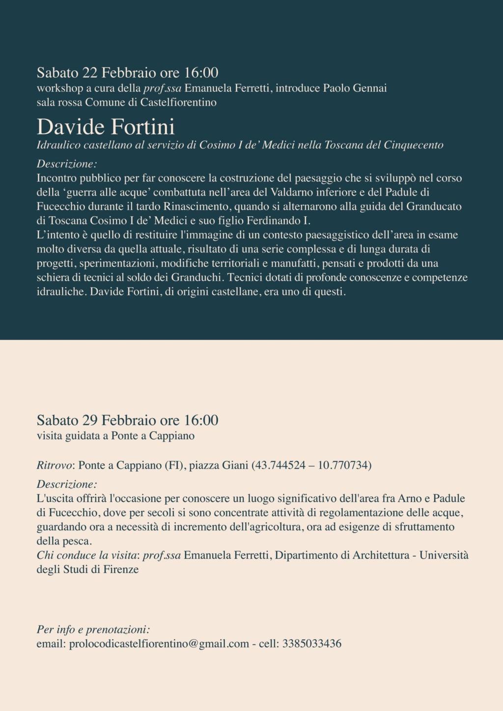Davide Fortini. Idraulico castellano al servizio di Cosimo I De' Medici Festa_12