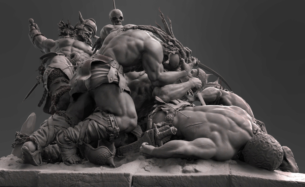 Diorama Conan the destroyer 1510