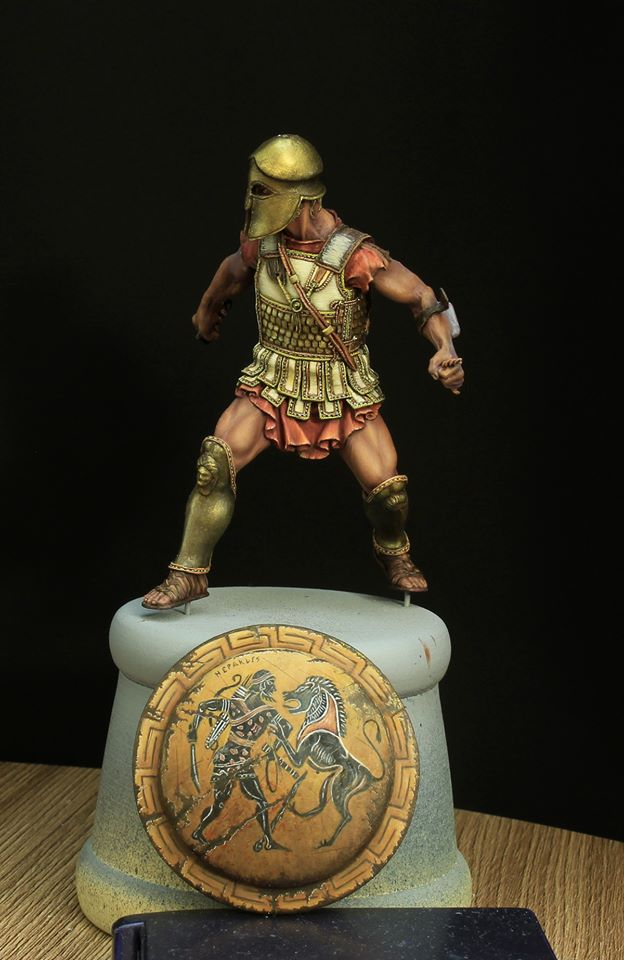 Bouclier hoplite WIP - Medieval Forge Miniature 75 mm 95956510