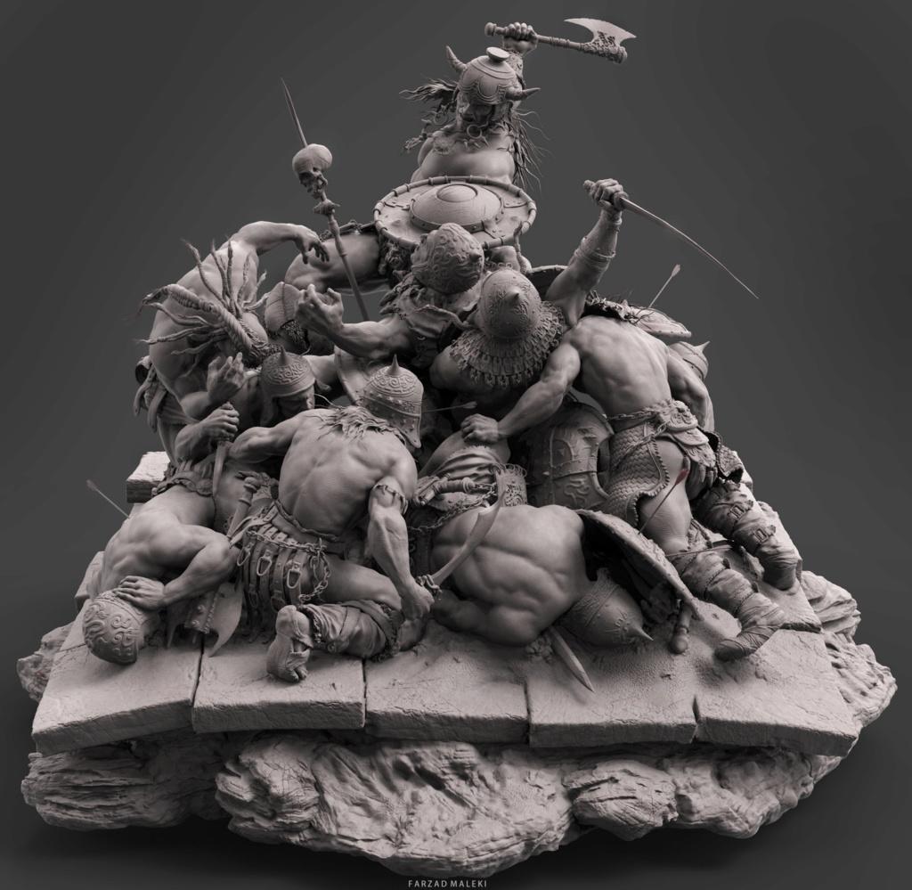 Diorama Conan the destroyer A110