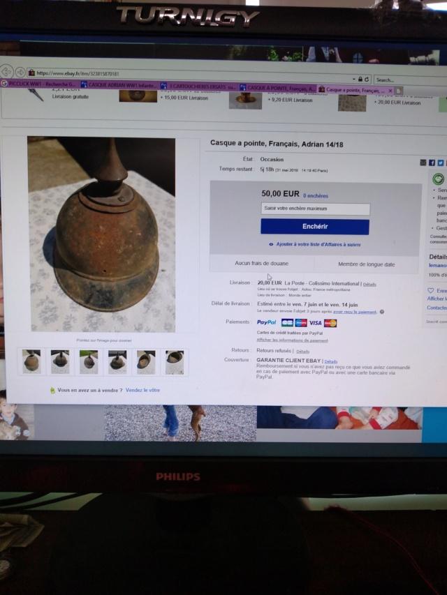 """Arnaque casque Adrian """"rare"""" 15588010"""