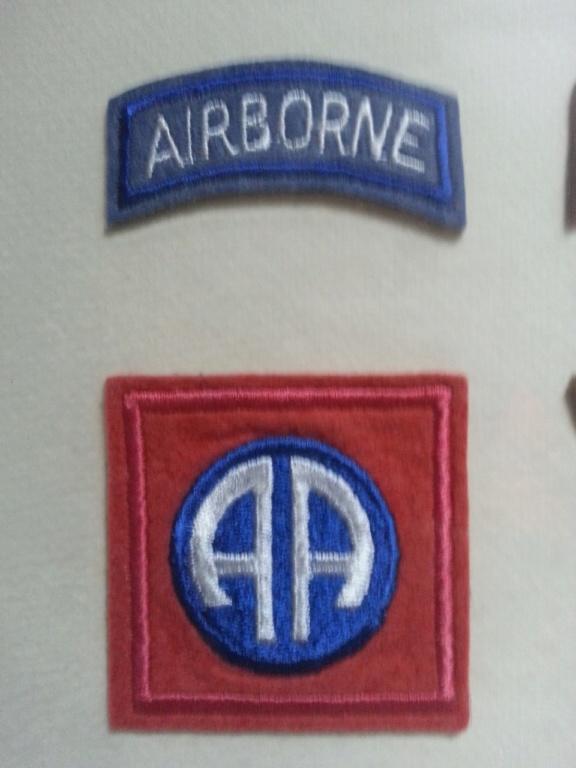 Cadre avec insignes 82 et 101 eme Airborne Thumbn14