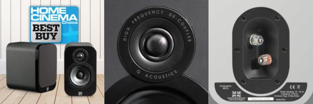 Q Acoustics 3010 Black Leather (New in Box) 3010-b10