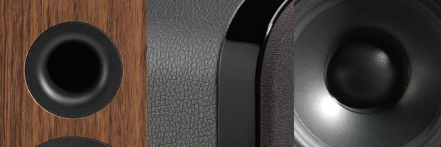 Q Acoustics 3010 Black Leather (New in Box) 3010-b12