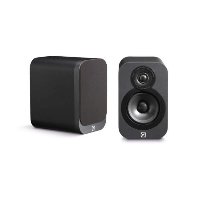Q Acoustics 3010 Black Leather (New in Box) 3010gr11