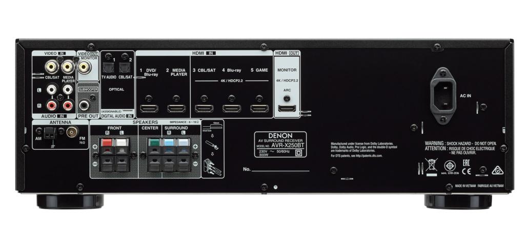 Denon AVR-X250BT (New) Avr-x211